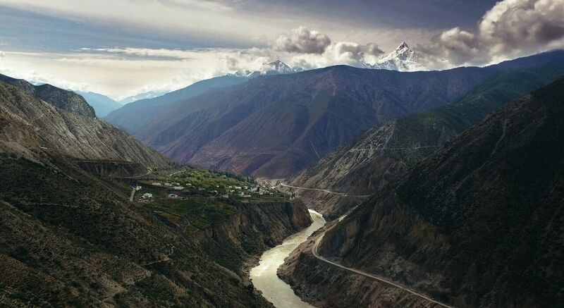 The vineyards for Ao Yun are on either side of the Mekong River, above 8,000 feet in elevation. (Photo courtesy of Moet Hennessy USA)